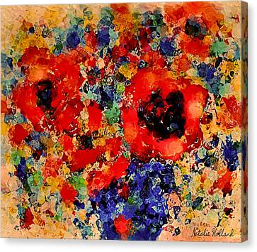 Floral Happiness Canvas Print by Natalie Holland