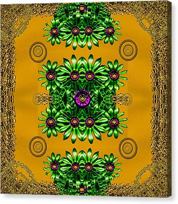 Floral In Metal And Chains Canvas Print by Pepita Selles
