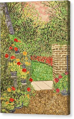 Floral Jewels Canvas Print