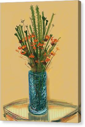 Floral No.28 Canvas Print by Russell Pierce