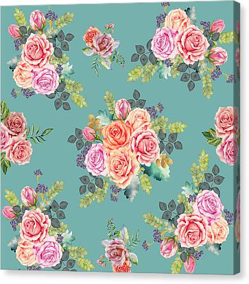 Floral Pattern 2 Canvas Print by Stanley Wong
