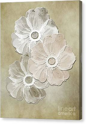 Floral Pattern Canvas Print by Judy Hall-Folde