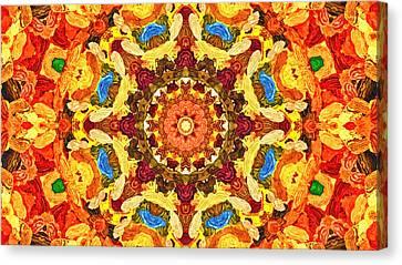 Mandala Of The Sun Canvas Print by Anton Kalinichev
