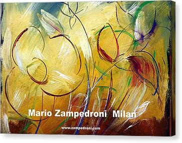 Floral Poster Canvas Print by Mario Zampedroni