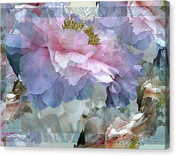 Floral Potpourri With Peonies 24 Canvas Print by Lynda Lehmann