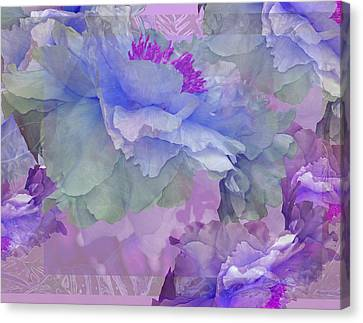 Floral Potpourri With Peonies 4 Canvas Print by Lynda Lehmann
