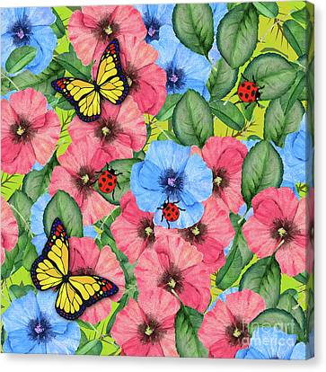 Floral Scene Canvas Print