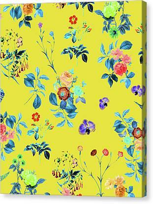 Floral Shower II Canvas Print by Uma Gokhale