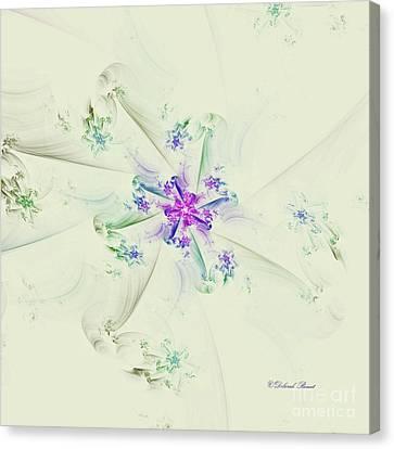 Canvas Print featuring the digital art Floral Spiral by Deborah Benoit