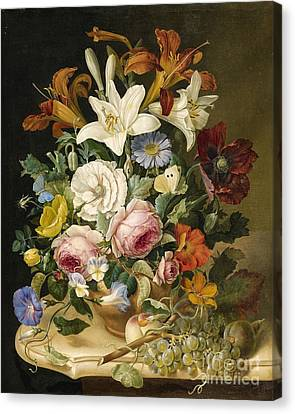 Floral Still Life Canvas Print by Celestial Images