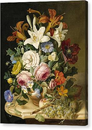 Floral Still Life Canvas Print by Eduard Pollack
