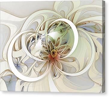 Floral Swirls Canvas Print by Amanda Moore
