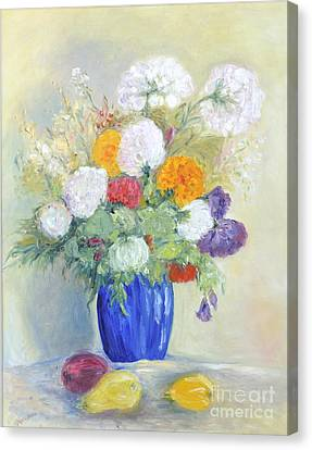 Canvas Print featuring the painting Floral Symphonie by Barbara Anna Knauf