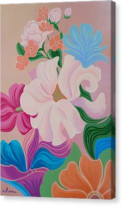 Floral Symphony Canvas Print by Irene Hurdle