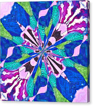 Floral Thing Canvas Print by Susan Leggett