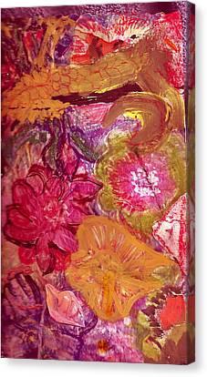 Floral Whimsy 2 Canvas Print by Anne-Elizabeth Whiteway