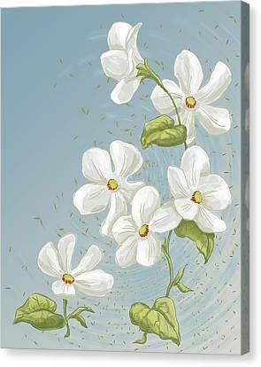 Floral Whorl Canvas Print