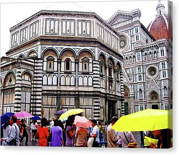 Florence Baptistery Canvas Print by Debbie Oppermann