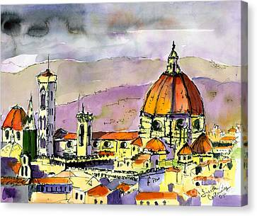 Florence Cathedral Italy Canvas Print by Ginette Callaway