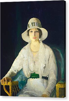 Florence Davey Canvas Print by George Bellows