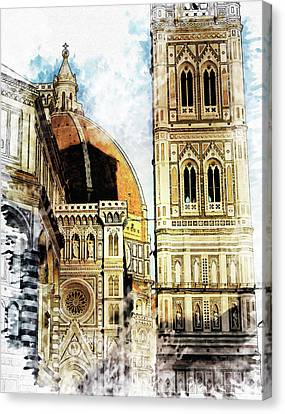 Florence Dome Architecture 4 - By Diana Van Canvas Print by Diana Van