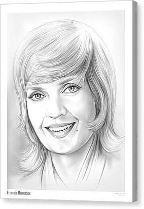 Florence Henderson Canvas Print