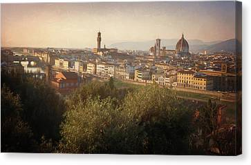 Florence Italy Cityscape Canvas Print by Joan Carroll