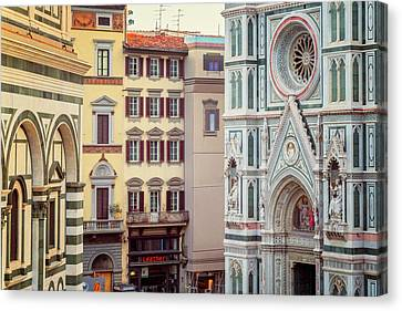 Canvas Print featuring the photograph Florence Italy View by Joan Carroll
