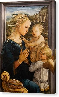 Florence - Madonna And Child With Angels- Filippo Lippi Canvas Print