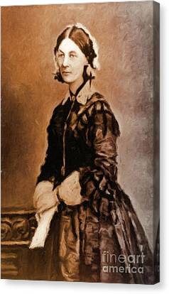Vintage Painter Canvas Print - Florence Nightingale By Mary Bassett by Mary Bassett
