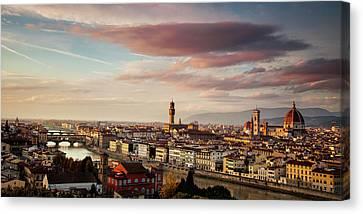 Florence Skyline Canvas Print by Andrew Soundarajan