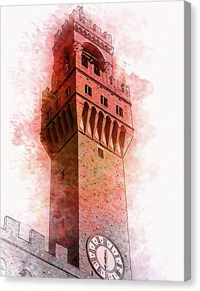 Florence Town Hall Tower - By Diana Van Canvas Print