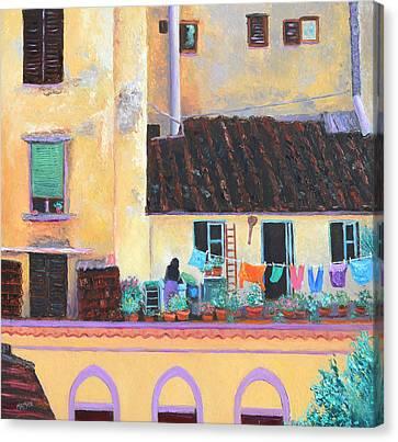 Florence Windows Canvas Print by Jan Matson