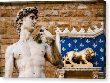Florentine Icons Canvas Print by Mick Burkey