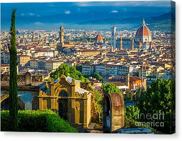 Tuscan Canvas Print - Florentine Vista by Inge Johnsson