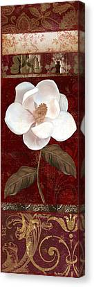 Flores Blancas Rectangle I Canvas Print