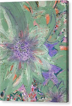 Flores De Amor Canvas Print by Anne-Elizabeth Whiteway