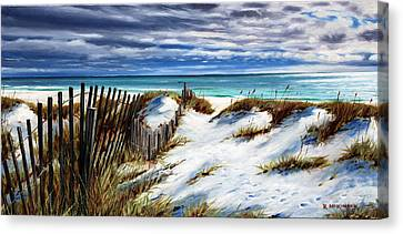 Canvas Print featuring the painting Florida Beach by Rick McKinney