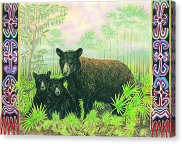 Florida Black Bears Canvas Print by Tim McCarthy