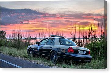 Florida Highway Patrol Canvas Print by JC Findley