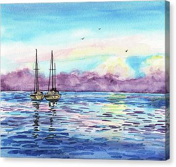 Canvas Print featuring the painting Florida Keys Islamorada Shore by Irina Sztukowski