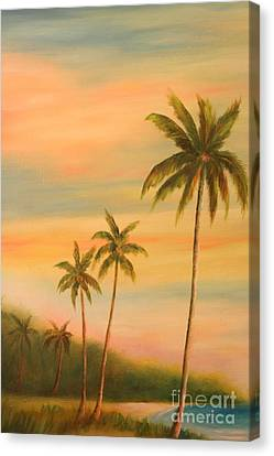 Florida Palms Trees Canvas Print by Gabriela Valencia