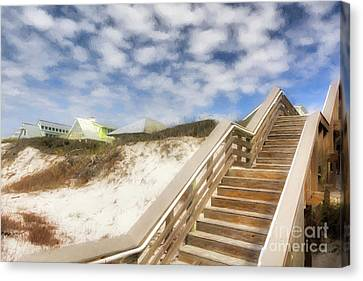 Canvas Print featuring the photograph Florida Panhandle Sand Dunes by Mel Steinhauer