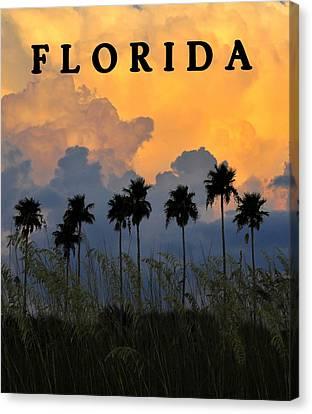 Florida Poster Canvas Print by David Lee Thompson