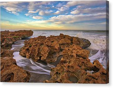 Florida Riviera Beach Ocean Reef Park Canvas Print