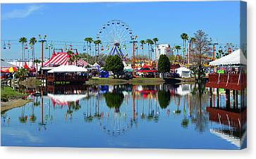 Canvas Print featuring the photograph Florida State Fair 2017 by David Lee Thompson