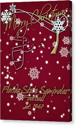 Florida State Seminoles Christmas Card Canvas Print by Joe Hamilton