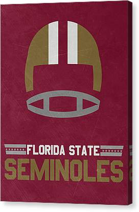 March Canvas Print - Florida State Seminoles Vintage Football Art by Joe Hamilton