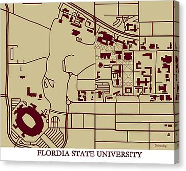 Florida State  University Campus  Canvas Print by Spencer Hall