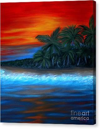 Florida Sunset Canvas Print by Oksana Semenchenko